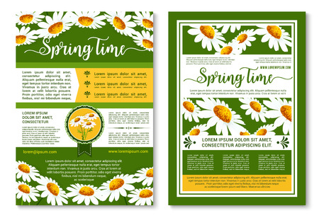 Spring flowers poster or brochure template