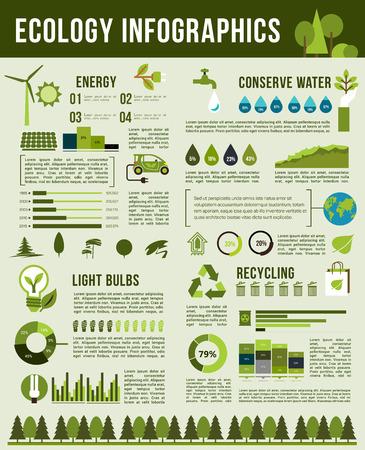 Vector Infographics sjabloon van natuur ecologie