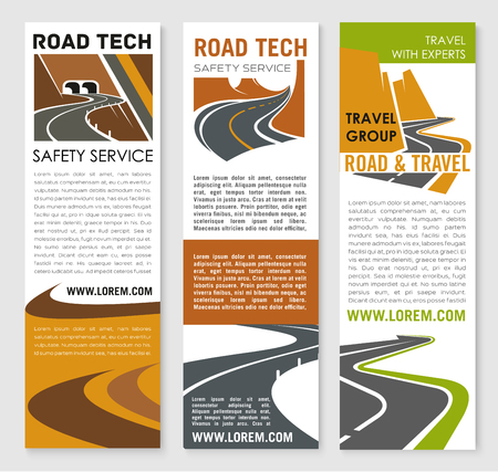 Vector Banners of road safety construction company Illustration