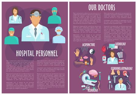 Vector Brochure of medical or hospital personnel Illustration