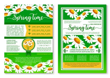 Springtime holidays celebration poster template Illustration