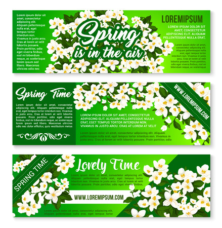 Spring Flowers Welcome Brochure Template Design Royalty Free