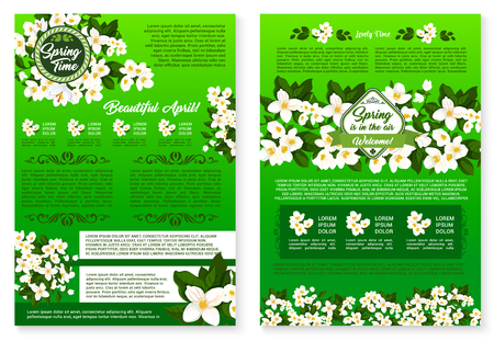 Spring season holidays greeting poster template Фото со стока - 77243554