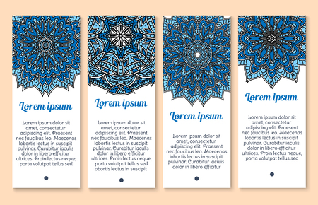A Vector banners Paisley or Mandala ornaments