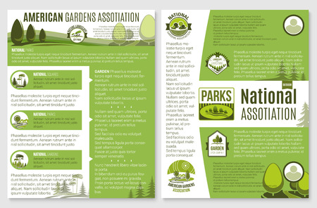 ベクトル風景や園芸会社のパンフレット  イラスト・ベクター素材