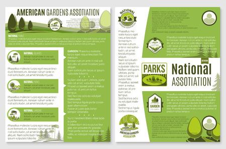 Vectorbrochure voor landschaps- of tuinbouwbedrijf Stock Illustratie