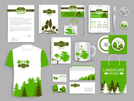 Corporate identity set landschap design bedrijf