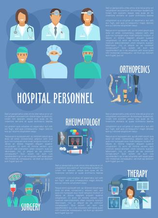 Medical vector hospital personnel doctors