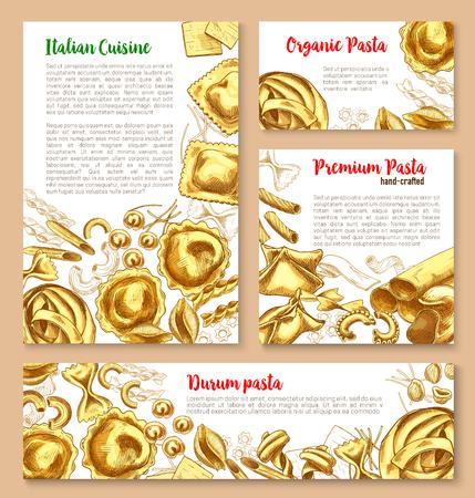Vector templates set for pasta of Italian cuisine Stock Vector - 77781114