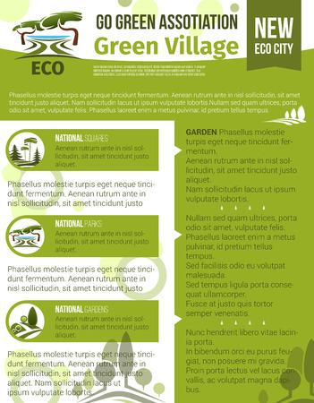 Vector poster for green garden association Ilustração