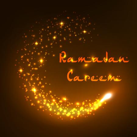 Vector Ramadan Kareem holiday greeting card