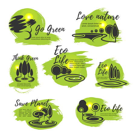 Eco green life and ecology protection symbol Stok Fotoğraf - 78178280