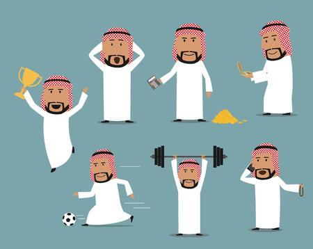 Saoedi-Arabische zakenman in verschillende posities
