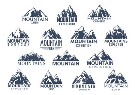 산 관광 및 스포츠 벡터 아이콘을 설정합니다. 스톡 콘텐츠 - 79001203