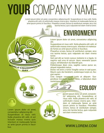 緑色のエコロジー環境会社ベクトル ポスター