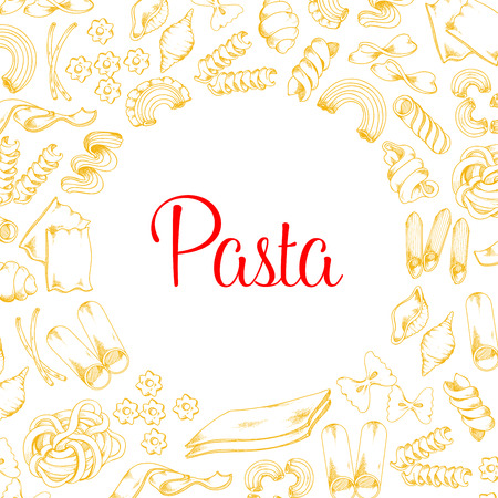Poster of pasta for Italian cuisine vector design