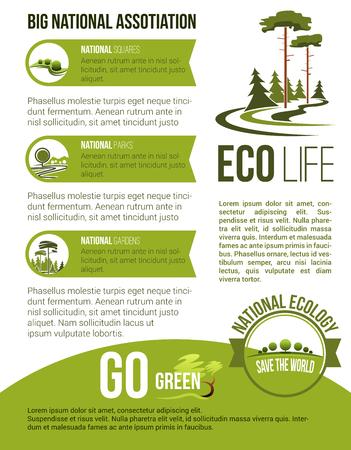Tuin landschap bedrijf vector poster