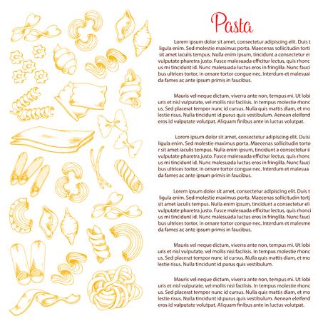 이탈리아 파스타 벡터 포스터 템플릿