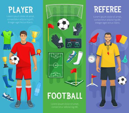 サッカー スポーツ ゲームのフットボール クラブのベクター バナー  イラスト・ベクター素材