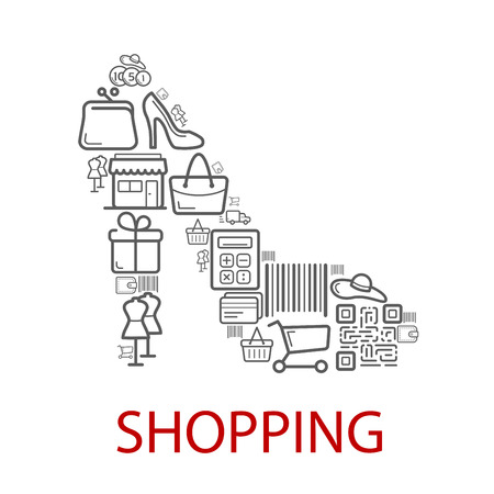 Shopping retail selling vector poster