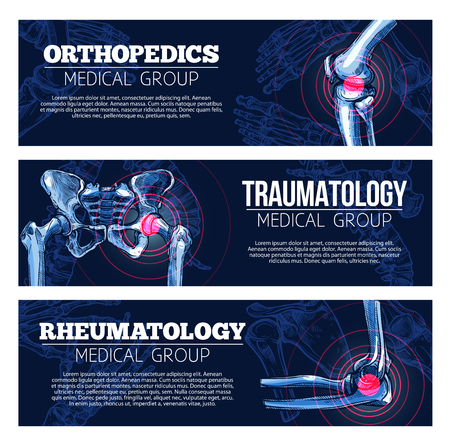 Medical vector banners orhtopedics, traumatology