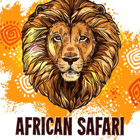 Safari africaine affiche safari insigne vecteur de chasse Banque d'images - 81227269