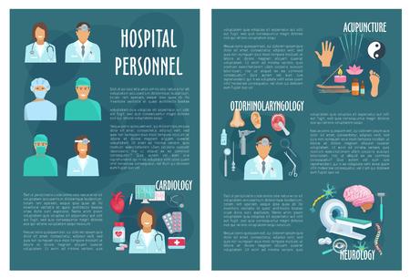 Medische of ziekenhuis gezondheidszorg vector brochure Stock Illustratie