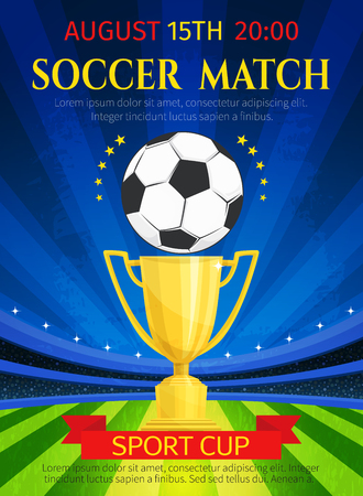 Vector poster for soccer match championship