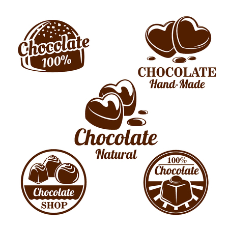 Chocolade, cacao snoep symbool voor voedsel ontwerp