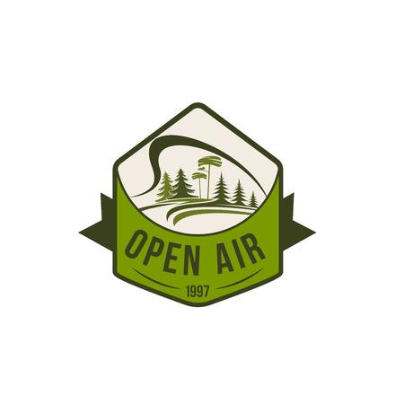 Vector pictogram van open lucht aard milieu