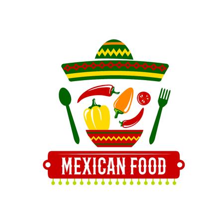 enchilada: Vector icon for Mexican food restaurant Illustration