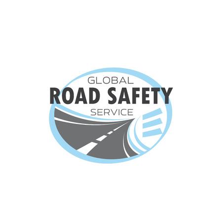 Weg of snelweg technologie dienst vector pictogram