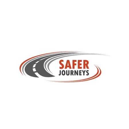 Icono de vector de carretera para el viaje de seguridad Ilustración de vector
