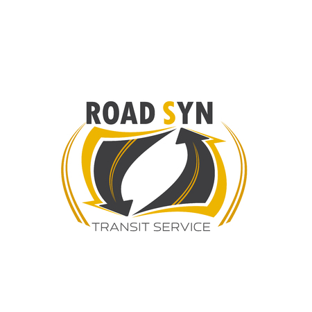 Transport transit service symbol Illustration