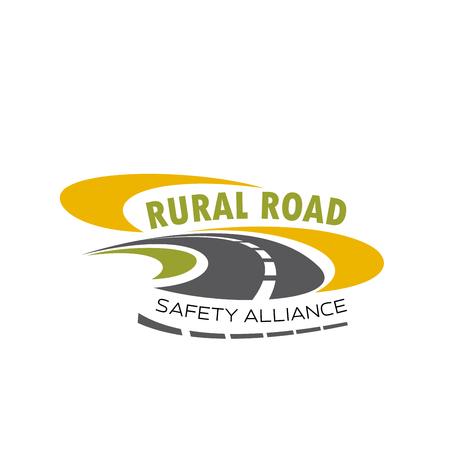 安全アライアンスの田舎道のベクトルのアイコン  イラスト・ベクター素材