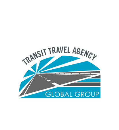 Transit travel agency vector road icon Illustration