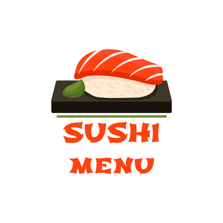 Sushi vector icon for Japanese restaurant menu