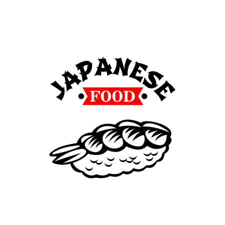 Japans vector het sushipictogram van het voedselkeukenrestaurant Stock Illustratie