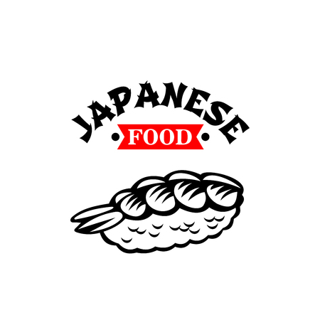 Japanese food cuisine restaurant vector sushi icon