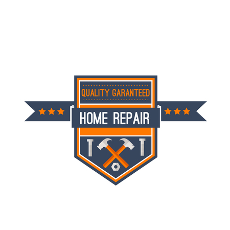 Home repair construction work tools vector icon