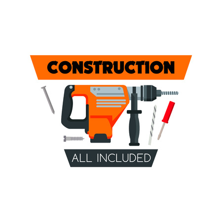 Construction work tools home repair vector icon