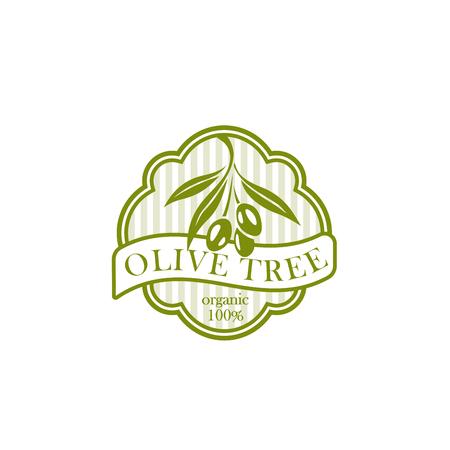 Extra virgin olive oil product label vector olive Illustration