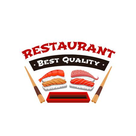 Japans restaurant sushi menu vector pictogram