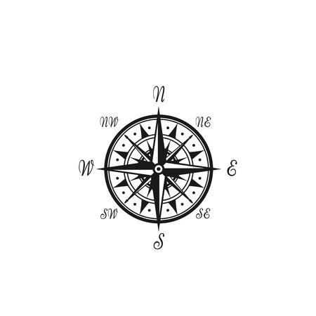 コンパス風ベクトル海洋航海アイコン  イラスト・ベクター素材