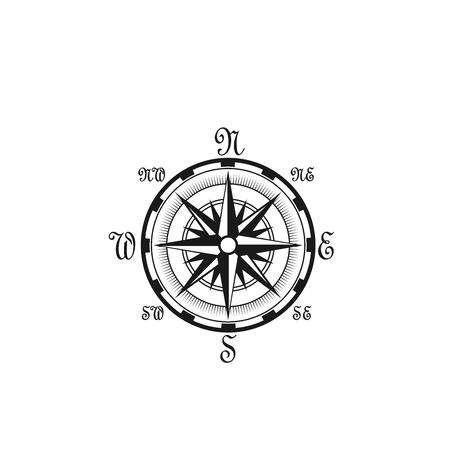 Seafarer navigation compass vector nautical icon
