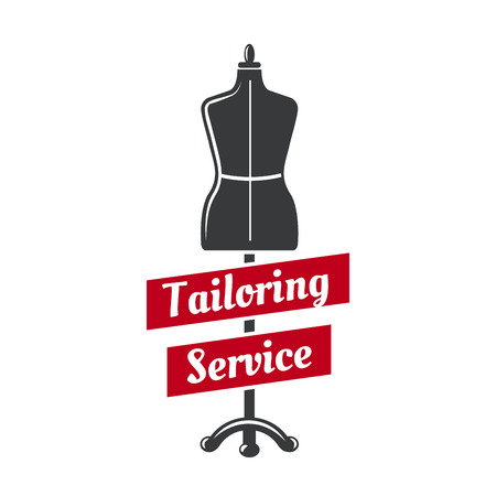 Tailor dummy vector icon for tailoring service Vettoriali