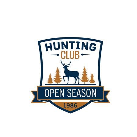 Wild animal vector icon hunting club open season Ilustrace