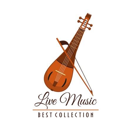 arpa: Concierto de música en vivo festival vector instrumento icono Vectores
