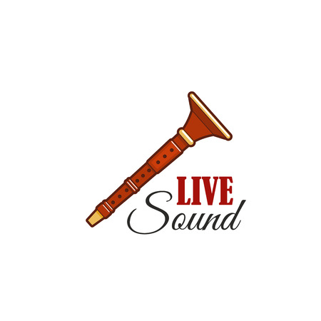 Live sound concert festival vector reed pipe icon