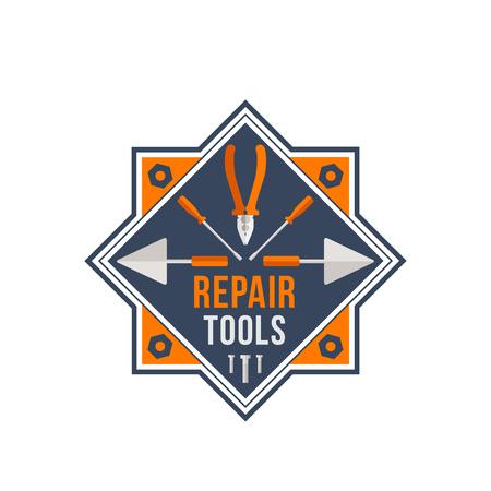 Repair tools vector icon for house repair work